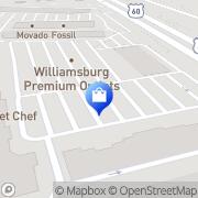 Map Hanesbrands Williamsburg, United States