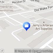 Map Jerry's Artarama Raleigh, United States