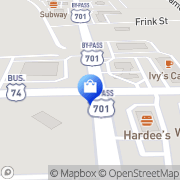 Map Walgreens Whiteville, United States