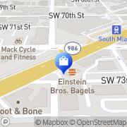 Map Swim Bike and Run South Miami, United States