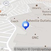 Map Hanesbrands Asheville, United States