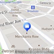 Map Nike Community Store Detroit, United States