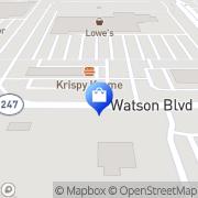 Map Walmart Supercenter Warner Robins, United States