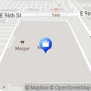 Map Meijer Pharmacy Indianapolis, United States