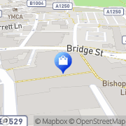 Map Clarks Shoes Bishop's Stortford, United Kingdom