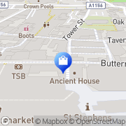 Map Clarks Shoes Ipswich, United Kingdom