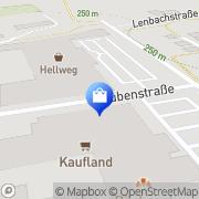 Karte Kaufland Bad Kissingen, Deutschland