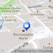Karte Apotheke Im Reichsstädter Markt Aalen, Deutschland