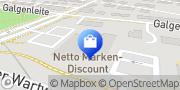 Karte Netto Filiale Schweinfurt, Deutschland