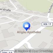 Karte Allgäu-Apotheke Bad Grönenbach, Markt, Deutschland