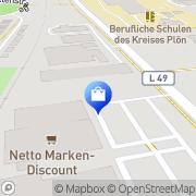 Karte Netto Filiale Preetz, Deutschland