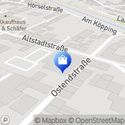 Karte Netto Filiale Eisenach, Deutschland