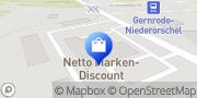 Karte Netto Filiale Niederorschel, Deutschland
