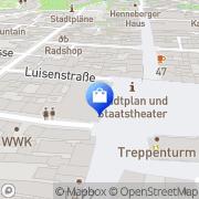 Karte Apollo-Optik Meiningen, Deutschland
