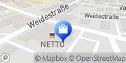 Karte NETTO Deutschland - schwarz-gelber Discounter mit dem Scottie Eutin, Deutschland