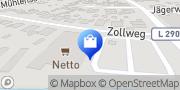 Karte NETTO Deutschland - schwarz-gelber Discounter mit dem Scottie Sereetz, Deutschland