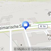 Karte Globus Handelshof Erfurt, Deutschland