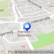 Karte Franken-Apotheke Neustadt b.Coburg, Deutschland