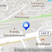 Karte Auto-Herold Lauf, Deutschland