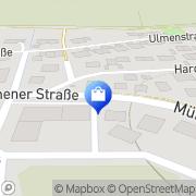 Karte Rathaus Schwabhausen, Deutschland