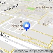 Karte Netto Filiale Schwerin, Deutschland