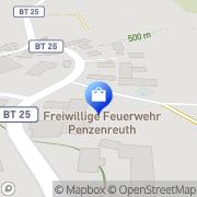 Karte Freiwillige Feuerwehr Penzenreuth Pegnitz, Deutschland
