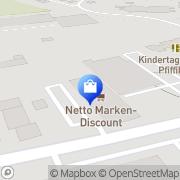 Karte Netto Filiale Gefrees, Deutschland