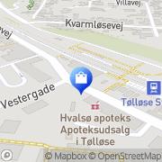 Kort Tølløse Apoteksudsalg Tølløse, Danmark