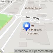 Karte Netto Filiale Kelheim, Deutschland