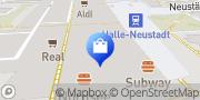 Karte Vodafone Shop Halle, Deutschland
