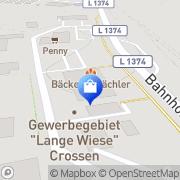 Karte diska Crossen Crossen an der Elster, Deutschland