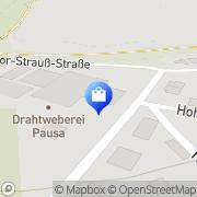 Karte Drahtweberei Pausa Pausa, Deutschland