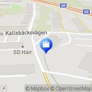 Karta Trädgårdsform i Väst Göteborg, Sverige