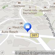 Karte Gästehaus Charlotte Bayrischzell, Deutschland