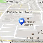Karte Netto Filiale Regensburg, Deutschland