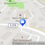 Karte Netto Filiale Auerbach, Deutschland