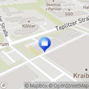 Karte Gummiwerk Kraiburg Waldkraiburg, Deutschland