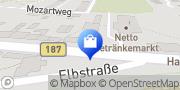 Karte Netto Getränkemarkt Coswig, Deutschland