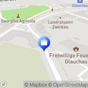 Karte Feuerwehr Glauchau, Deutschland