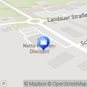 Karte Netto Filiale Reisbach, Deutschland