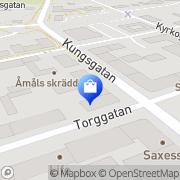 Karta Interflora / Carlssons Blomsterhandel Åmål, Sverige