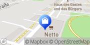 Karte NETTO Deutschland - schwarz-gelber Discounter mit dem Scottie Rechlin, Deutschland