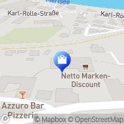 Karte Netto Filiale Eggenfelden, Deutschland