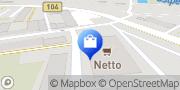 Karte NETTO Deutschland - schwarz-gelber Discounter mit dem Scottie Malchin, Deutschland