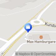 Karta Scooter Center Halmstad, Sverige