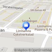 Karta Linnegatans Cykel Tore Bjarnevik AB Limhamn, Sverige