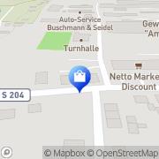 Karte Netto Filiale Lichtenau, Deutschland