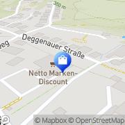 Karte Netto Filiale Deggendorf, Deutschland
