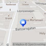 Karta ZARA Malmö, Sverige