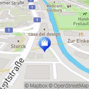 Karte Bindestelle Meisterfloristik Salzburg, Österreich